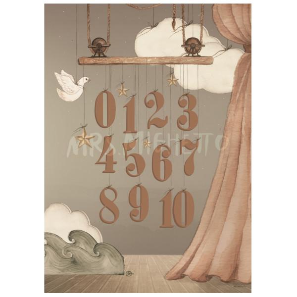 123 Poster 50 X 70 Cm Mrs Mighetto från Inget märke