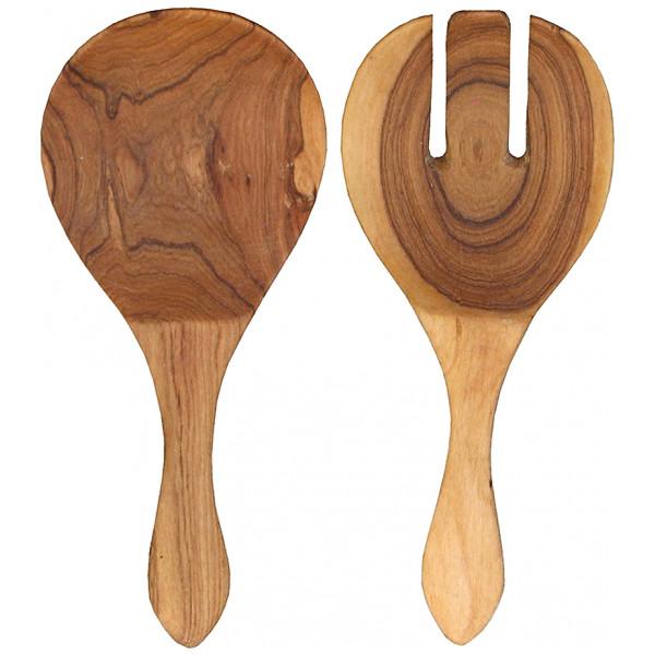 Afroart Wood Salladsbetick Olivträ 2 Delar från Afroart