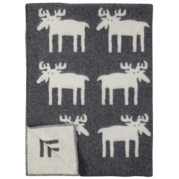 Älgar Moose Ullfilt Grey Klippan Yllefabrik från Inget märke