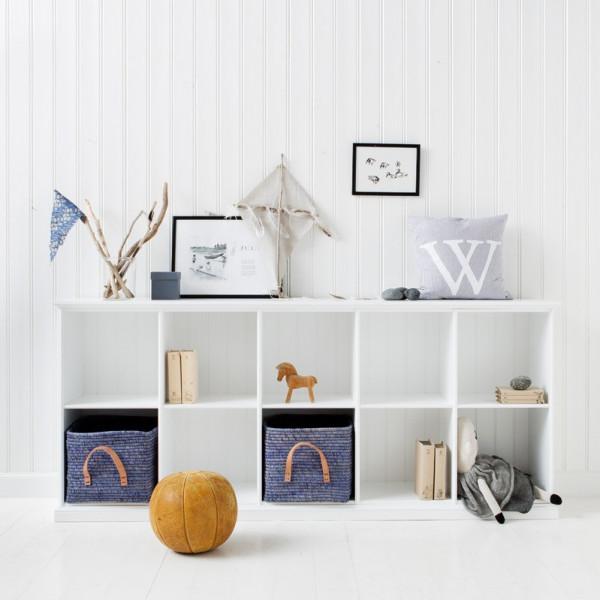 Barnbokhylla 021322 Fem Extra Hyllplan Oliver Furniture från Inget märke