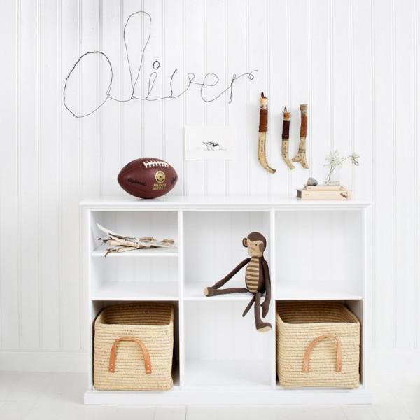 Barnbokhylla Låg Hylla Seaside Tre Sektioner Oliver Furniture från Inget märke