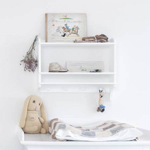 Barnbokhylla Med Krokar Oliver Furniture från Inget märke