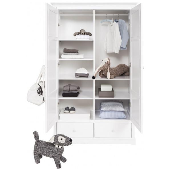Barngarderob Två Dörrar H195 Cm Oliver Furniture från Inget märke