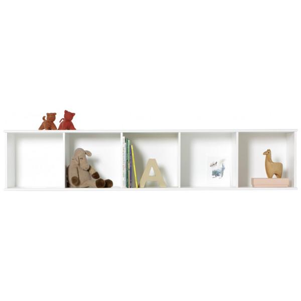 Barnmöbel Wood Horisontal Hylla 5 X 1 För Vägg Oliver Furniture från Inget märke