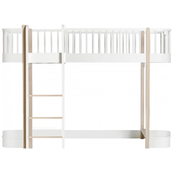 Barnsäng Wood Halvhög Loftsäng Oliver Furniture från Inget märke