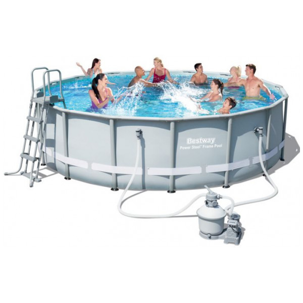 Bestway Power Steel Frame Pool Set Ø 488 X 122 Cm från Bestway