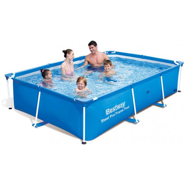 Bestway Rektangulär Pool 221 X 150 43 Cm Med Stålram från Bestway