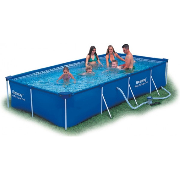 Bestway Rektangulär Pool 400 X 211 81 Cm Med Stålram från Bestway