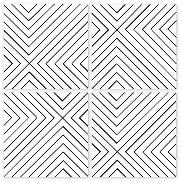 Boubouki Inredning Kakeldekor Labyrint 15X15 Cm 4-Pack från Boubouki