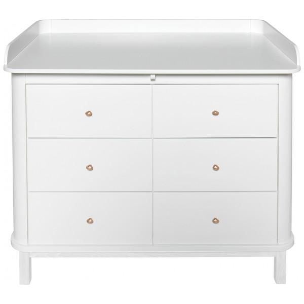 Byrå Skötbord Wood Stor Skötbädd Oliver Furniture från Inget märke