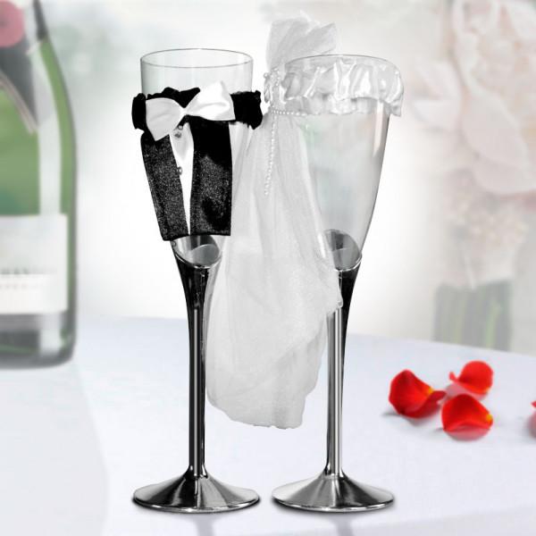 Champagneglas Brud Och Brudgum från Inget märke