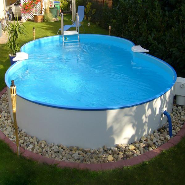 Chemoform Poolset Exklusiv Åttaformad Ovanmark Clear Pool Bredd 500 Cm Djup 150 Cm från Chemoform