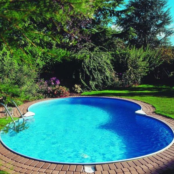 Clear Pool Åttaformad Pool Clear Mallorca Nedgrävd Bredd 420 Cm Djup 150 Cm från Clear pool