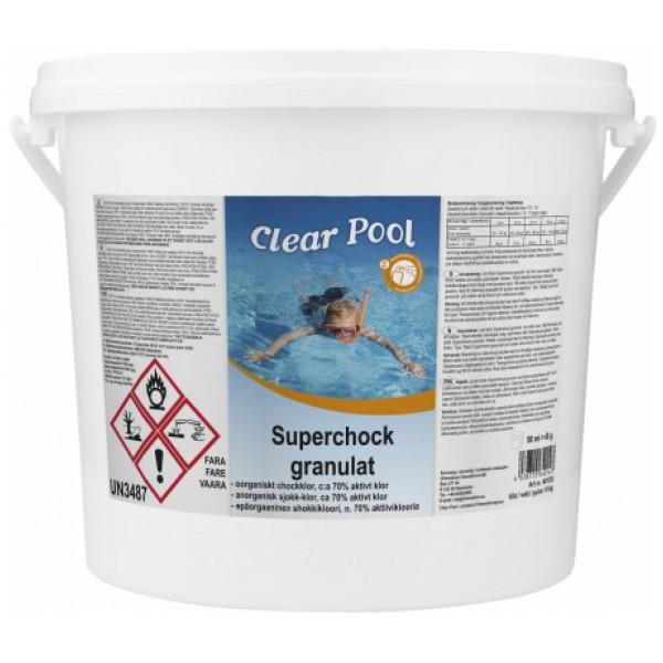 Clear Pool Klor Superchock Granulat 10 Kg från Clear pool