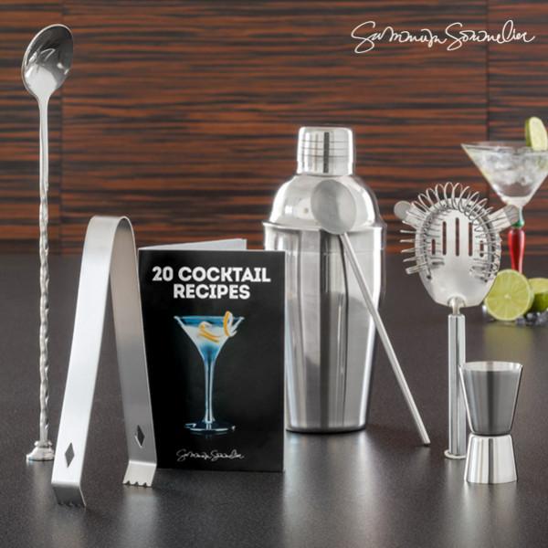 Cocktailset Med Summum Sommelier Receptbok 6 Delar från Inget märke