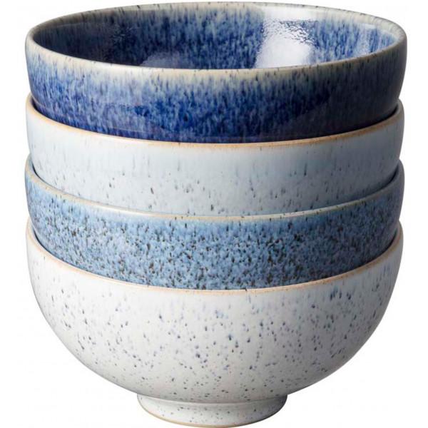 Denby Skål Studio Blue Small 13 Cm 4- Pack Rice Bowls från Denby