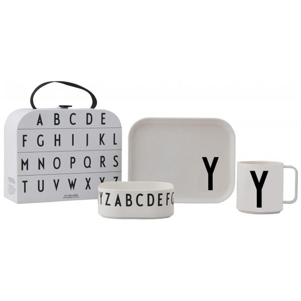 Design Letters Tritan Servis 4-Del Y från Design letters