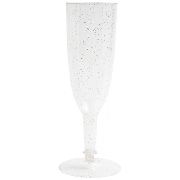 Engångschampagneglas Glitter från Inget märke