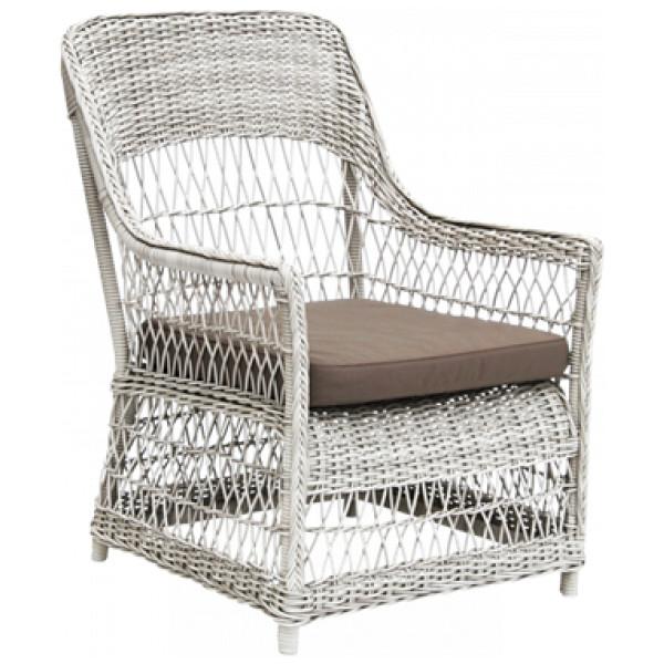 Fåtölj Dawn Lounge Chair Vintage White Sika - Design från Inget märke