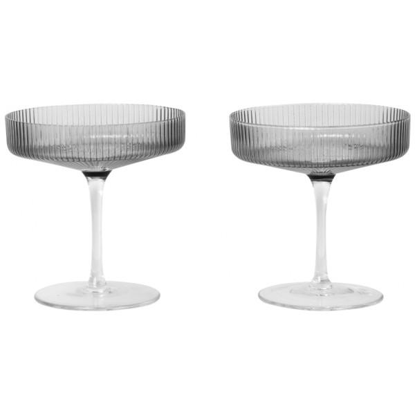 Ferm Living Ripple Champagneglas 2 - Set från Inget märke