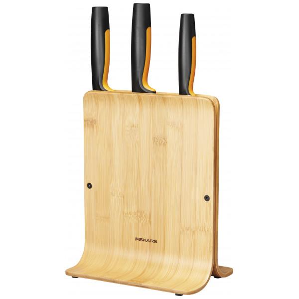 Fiskars Ff Knivblock I Bambu Med 3 Knivar från Fiskars