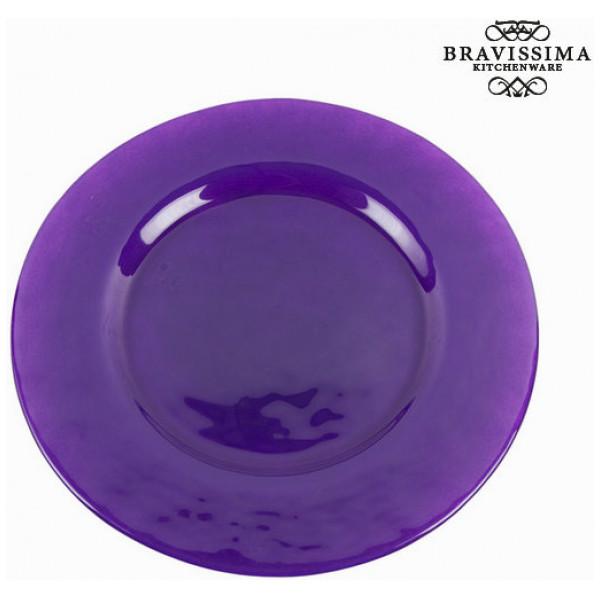 Flat Tallrik Glas - Crystal Colours Kitchen Samling By Bravissima från Inget märke