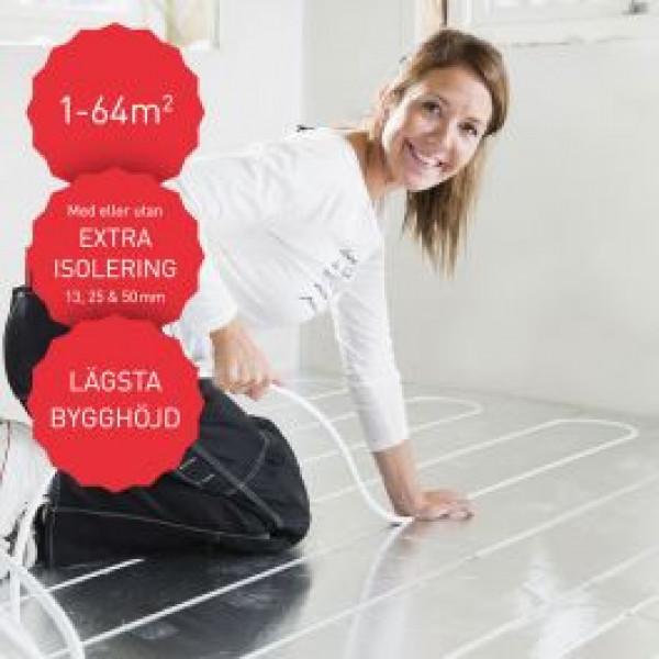 Flooré Golvvärmeprodukt Golvvärmepaket Med Tunna Skivor Från 13 Mm från Flooré