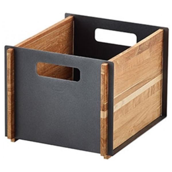 Förvaringsprodukt Box Teak Förvaringsbox Teak Grå Cane - Line från Inget märke