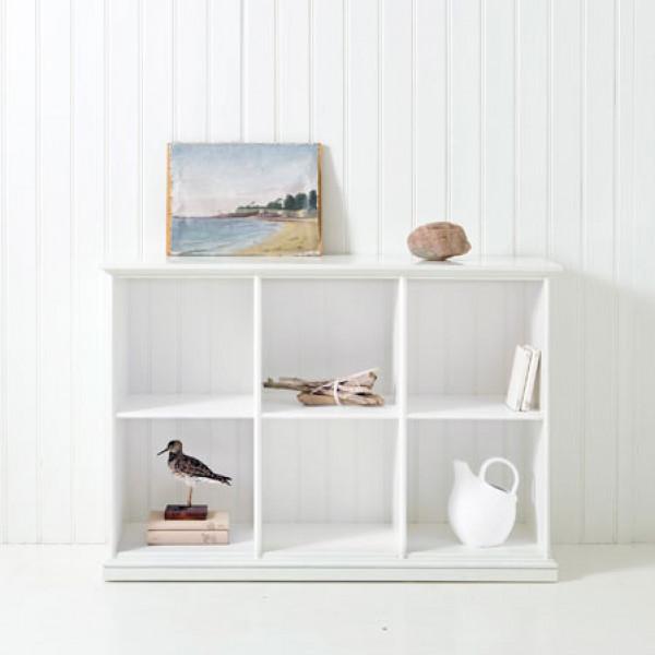 Förvaringsprodukt Låg Hylla Tre Sektioner 021319 Oliver Furniture från Inget märke