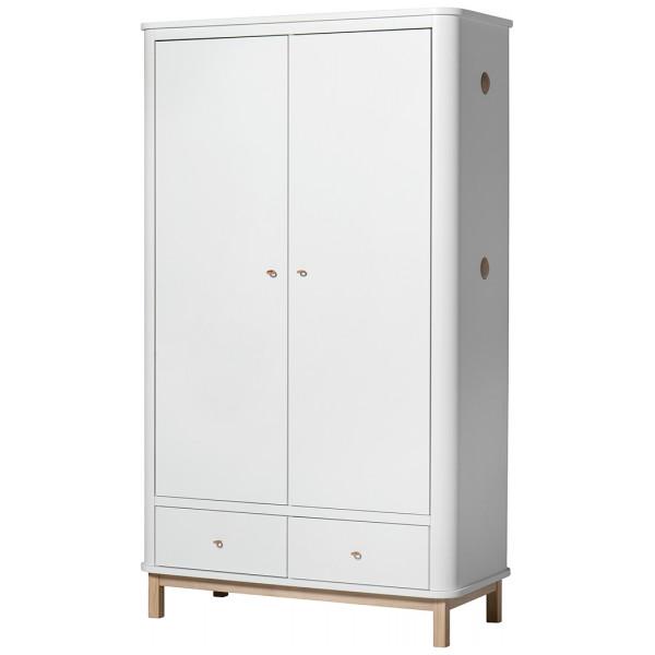 Garderob 2 Dörrar Wood Ek Oliver Furniture från Inget märke