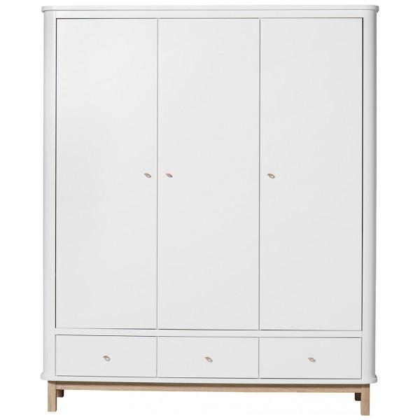 Garderob 3 Dörrar Wood Ek Oliver Furniture från Inget märke