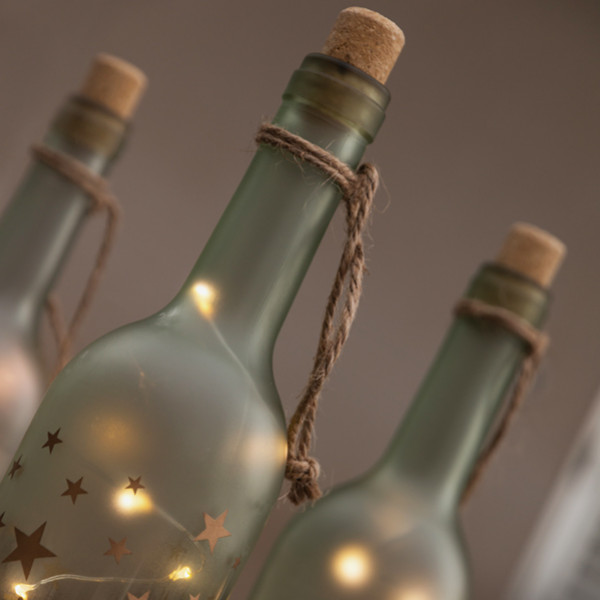 Glasflaska Med Led Lampor Vintage Coconut Design Magic 2 från Inget märke