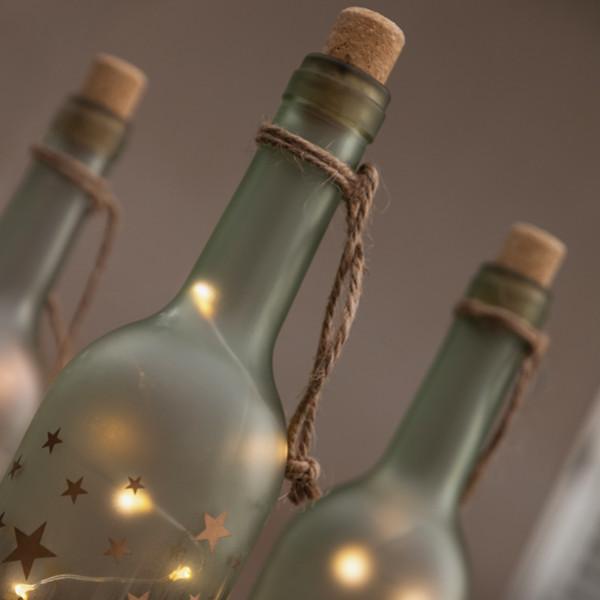 Glasflaska Med Led Lampor Vintage Coconut Design More Than The Stars från Inget märke