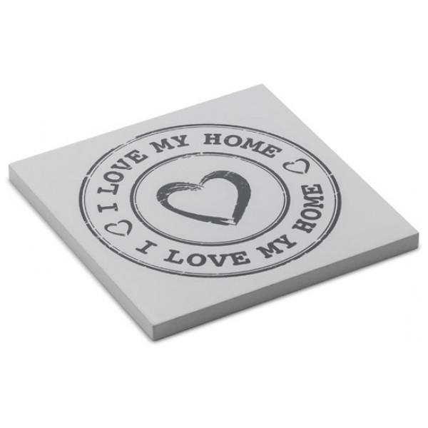 Glasunderlägg I Love My Home By Homania 4 St från Inget märke