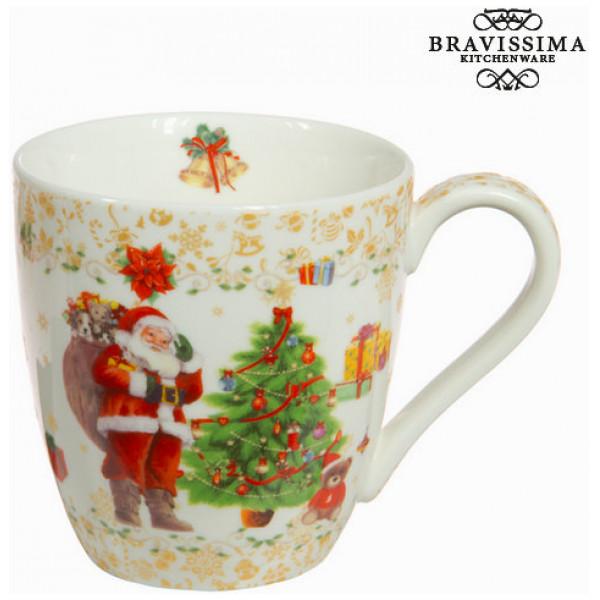 Guldfärgad Julmugg I Porslin By Bravissima Kitchen från Inget märke