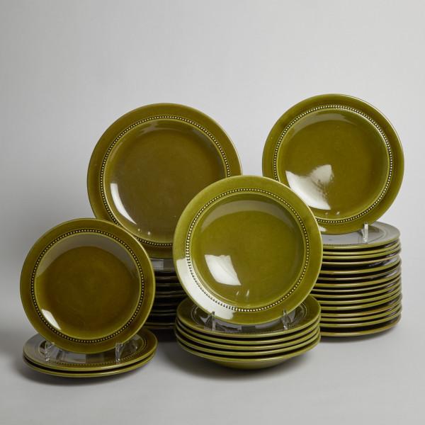 Höganäs Keramik Old Servis 36 Delar från Höganäs keramik