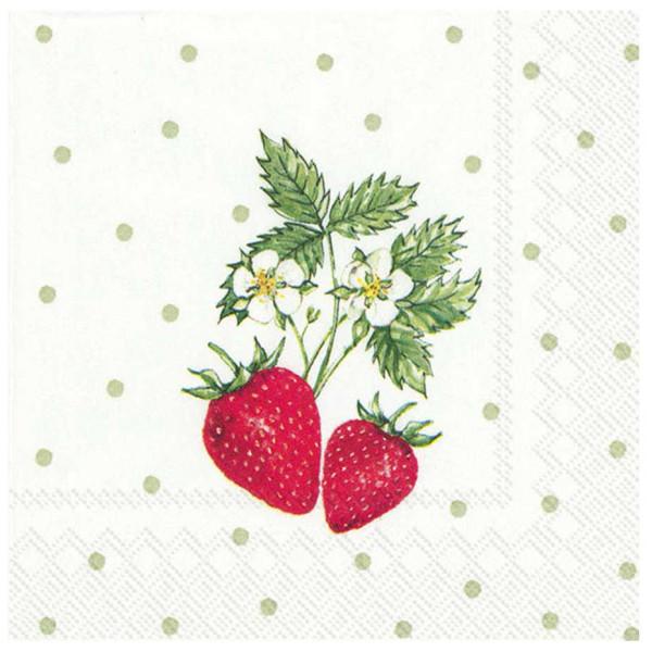 Ihr Servett Servetter Little Lovely Strawberry 24X24 Cm från Ihr