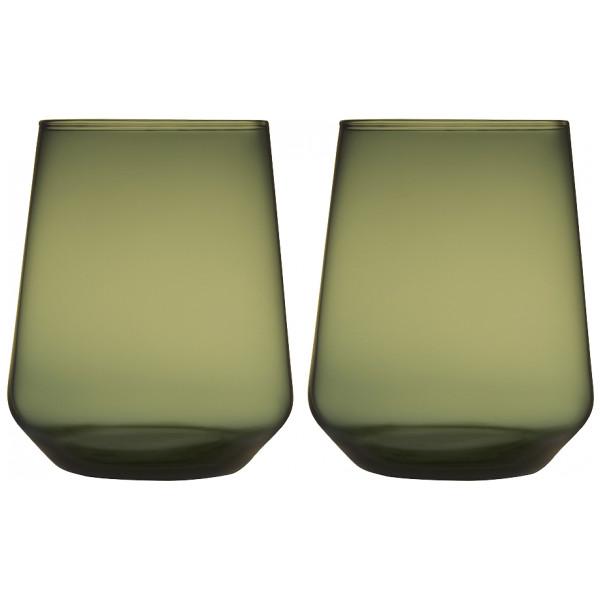 Iittala Vattenglas Essence Glas 35 Cl 2-Pack Mossgrön från Iittala