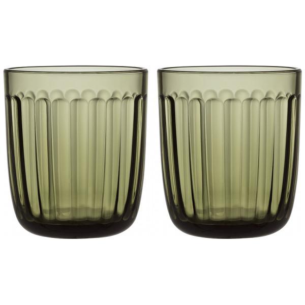 Iittala Vattenglas Raami Dricksglas 26 Cl 2-Pack Mossgrön från Iittala