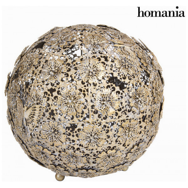 Inredning Guldfärgad Kula Blommor Och Fjäril - Art & Metal Samling By Homania från Inget märke