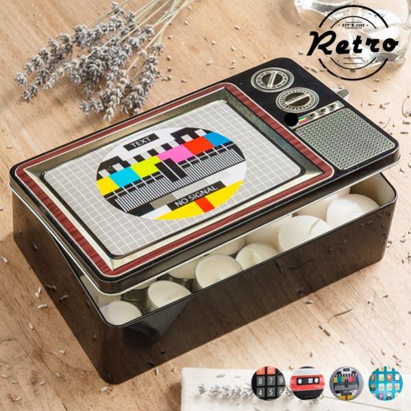 Inredning Metallåda Retro Technology Design Cassette från Inget märke