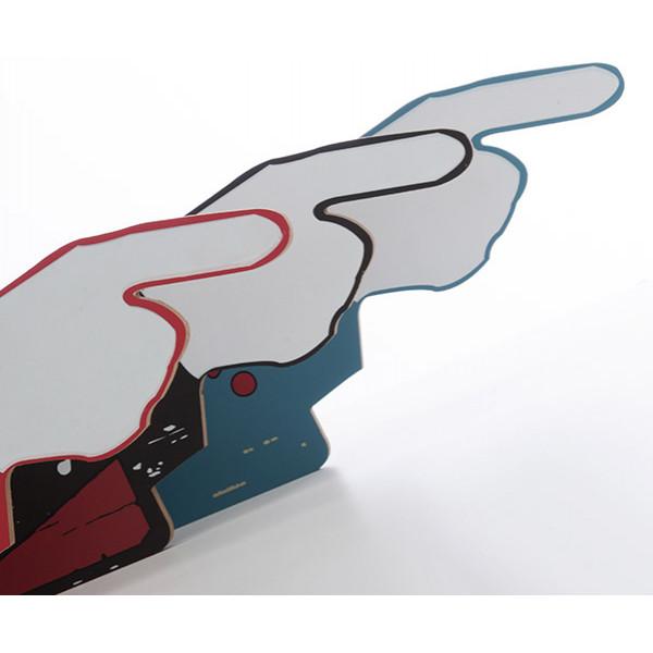Inredning Skylt Med Finger Vintage Look Design Talk från Inget märke