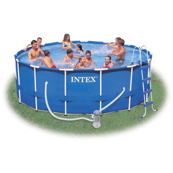 Intex Rund Pool Med Metallram 457 X 122 Cm från Intex