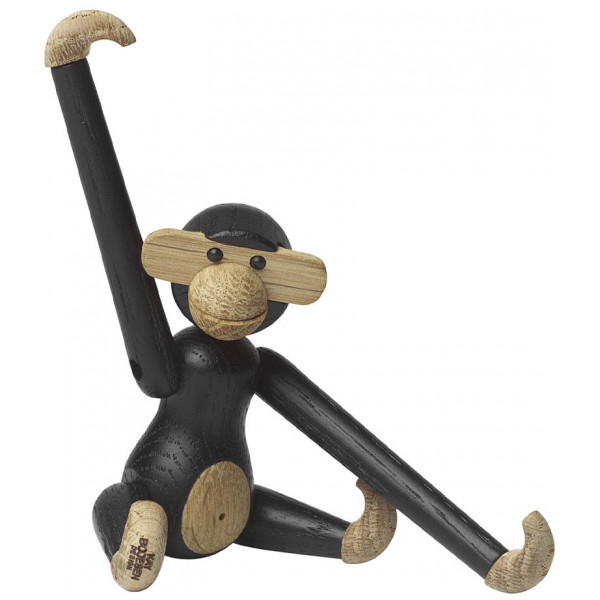 Kay Bojesen Figurin Apa Mini 9,5 Cm Mörkbetsad Ek från Kay bojesen