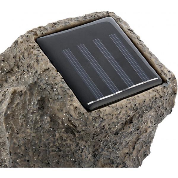 Konstgjord Sten Med Solcell 4 Led Färg från Inget märke