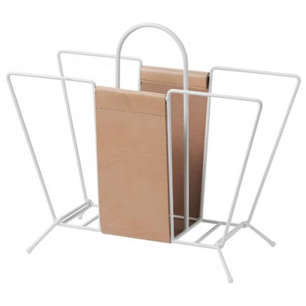 Kontorsprodukt Suitcase Tidningskorg Läder White Maze från Inget märke