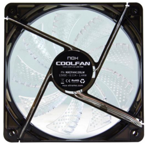 Lådfläkt Nox Nxcfan120Lw Cool Fan 12 Cm Led från Inget märke