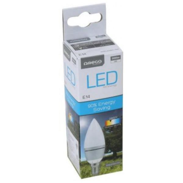 Led-Lampa Ljuslampa Omega E14 4W 300 Lm 2800 K Varmt Ljus från Inget märke