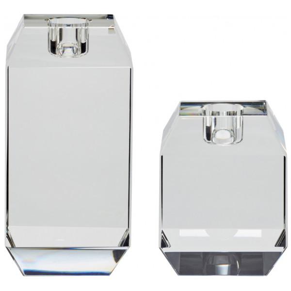 Ljusstake Glas 2 - Set Hubsch från Inget märke