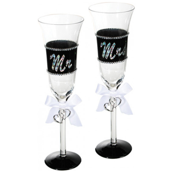 Mr Och Mrs Champagneglas från Inget märke